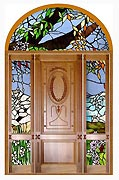 Art Glass Hardwood Doors