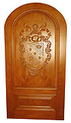 Coat of Arms Wooden Door