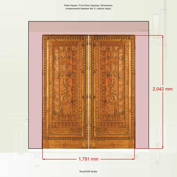 Description specification of wooden double bed bed for Double opening front doors