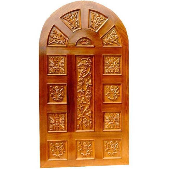 Single Carved Arched Door